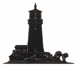 "Whitehall 30"" Traditional Directions LIGHTHOUSE Weathervane in Black for Roof or Garden"