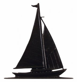 "Whitehall 30"" Traditional Directions Maritime SAILBOAT Weathervane in Black for Roof or Garden"
