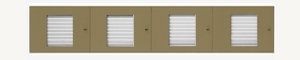 32 Name Capacity Directory - Top Mount to Horizontal Mailboxes Anodized Gold