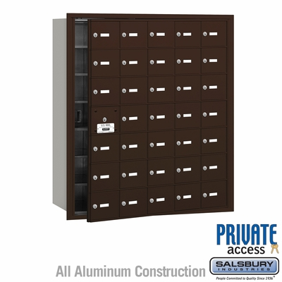 Salsbury 3635ZFP 4B Mailboxes 34 Tenant Doors Front Loading - Private Access
