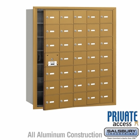 Salsbury 3635GFP 4B Mailboxes 34 Tenant Doors Front Loading - Private Access