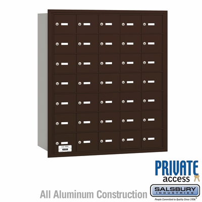Salsbury 3635ZRP 4B Mailboxes 35 Tenant Doors Rear Loading - Private Access