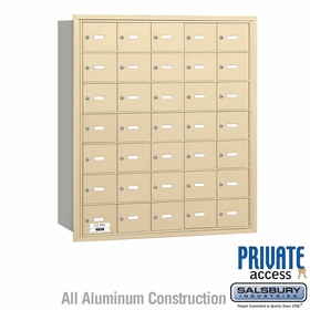 Salsbury 3635SRP 4B Mailboxes 35 Tenant Doors Rear Loading - Private Access