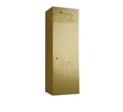 "Front Loading, Surface Mounted, Powdercoat Gold 60"" High Mail Collection Drop Box"