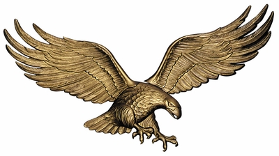 "Whitehall 36"" Wall Eagle Antique Brass"
