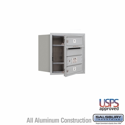 Salsbury 3704S-02AFU 4C Mailboxes 2 Tenant Doors Front Loading