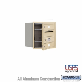 Salsbury 3704S-02SFU 4C Mailboxes 2 Tenant Doors Front Loading