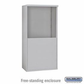 Salsbury 3908D-ALM Free-Standing Enclosure - for 3708 Double Column Unit - Aluminum