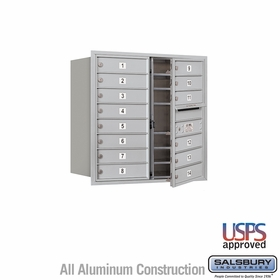 Salsbury 3708D-14AFU 4C Mailboxes 14 Tenant Doors Front Loading