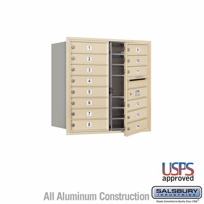 Salsbury 3708D-14SFU 4C Mailboxes 14 Tenant Doors Front Loading