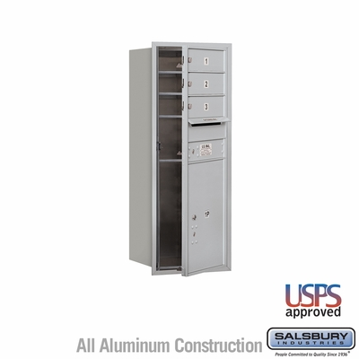 Salsbury 3710S-03AFU 4C Mailboxes 3 Tenant Doors Front Loading
