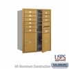 Salsbury 3711D-10GFU 4C Mailboxes 10 Tenant Doors Front Loading