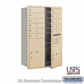 Salsbury 3712D-11SFU 4C Mailboxes 11 Tenant Doors Front Loading