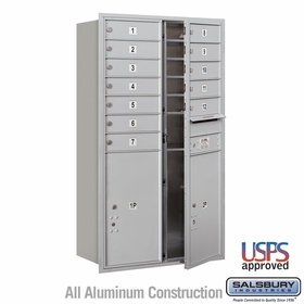 Front Loading Horizontal Mailboxes 11 to 12 Doors