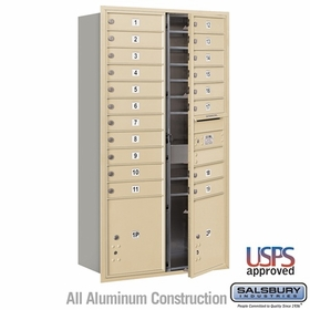 Salsbury 3716D-19SFU 4C Mailboxes 19 Tenant Doors Front Loading