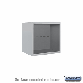 Salsbury 3804S-ALM Surface Mounted Enclosure - for 3704 Single Column Unit - Aluminum