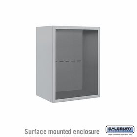Salsbury 3806S-ALM Surface Mounted Enclosure - for 3706 Single Column Unit - Aluminum