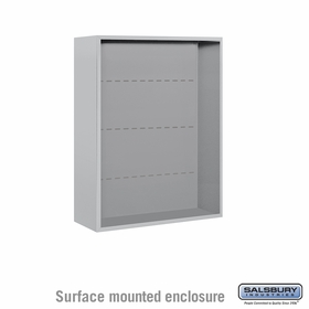 Salsbury 3810D-ALM Surface Mounted Enclosure - for 3710 Double Column Unit - Aluminum