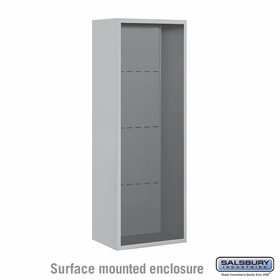 Salsbury 3812S-ALM Surface Mounted Enclosure - for 3712 Single Column Unit - Aluminum