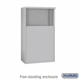 Salsbury 3904D-ALM Free-Standing Enclosure - for 3704 Double Column Unit - Aluminum