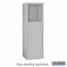 Salsbury 3904S-ALM Free-Standing Enclosure - for 3704 Single Column Unit - Aluminum