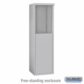 Salsbury 3906S-ALM Free-Standing Enclosure - for 3706 Single Column Unit - Aluminum