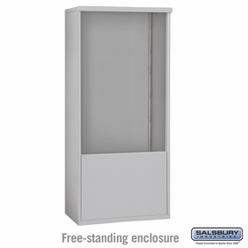Salsbury 3912D-ALM Free-Standing Enclosure - for 3712 Double Column Unit - Aluminum