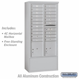 Salsbury 3916D-20AFU 4C Mailboxes 20 Tenant Doors Front Loading