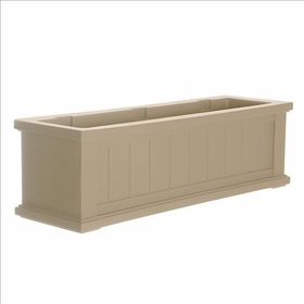 3Ft Wide Cape Cod Window Flower Box - Clay