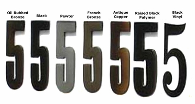 4 Inch Die Cast Address Numbers