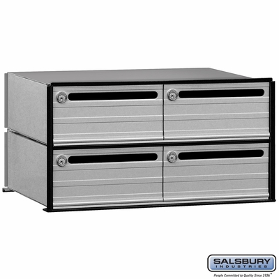 Salsbury 2404 4 Tenant Door Data Distribution System Aluminum Box