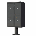 4 Door Parcel Locker Cluster Mailbox - Bronze