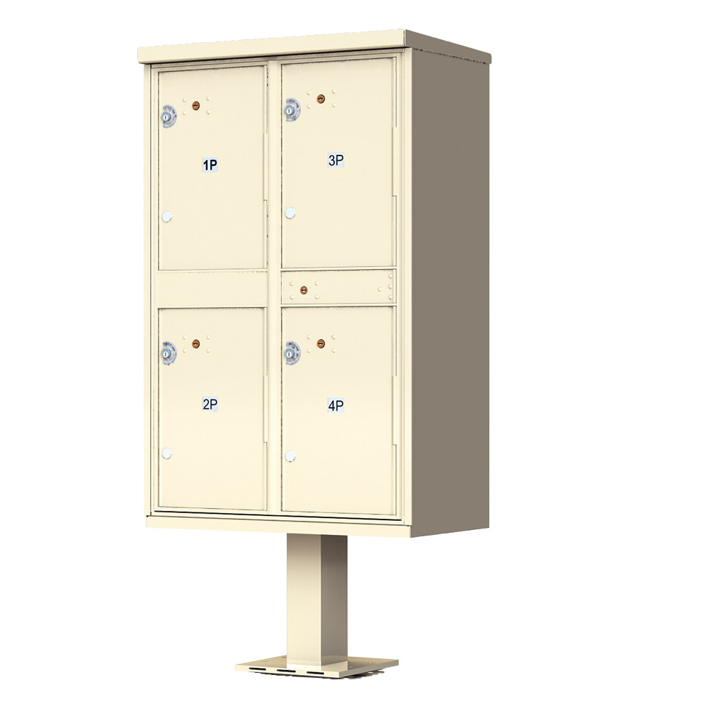 Auth florence 4 door parcel locker cluster mailbox for Auth florence
