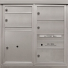4 Double and 1 Single Height Tenant Doors 1 Parcel Locker Front Loading ADA54-D1D4P1 USPS Approved 4C Horizontal Mailboxes