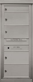4 Double Height and 1 Single Height Tenant Doors Front Loading Max-S1D4 USPS Approved 4C Horizontal Mailboxes