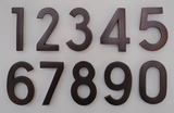 4 Inch Brass & Cast Aluminum Numbers