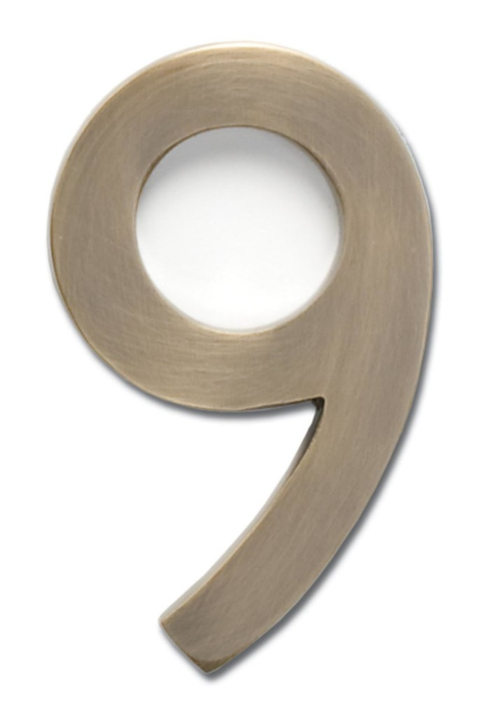 Genial 5 Inch Solid Brass House Numbers (0 9)   Choose Finish