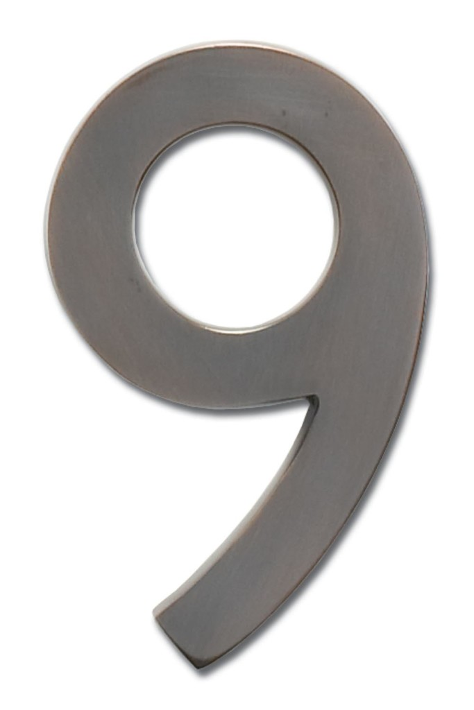 5 Inch Solid Brass House Numbers (0 9)   Choose Finish