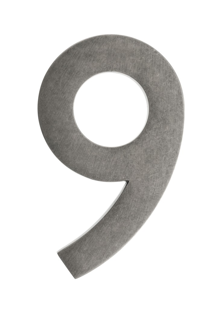 5 Inch Solid Br House Numbers 0 9 Choose Finish