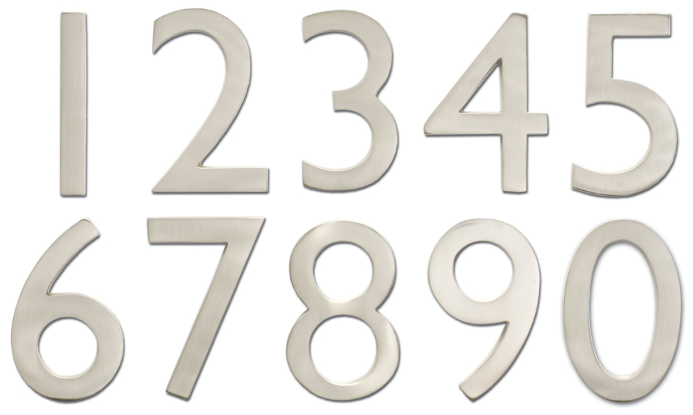 4 inch solid brass house numbers 0 9 choose finish