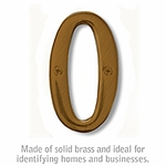 4 Inch Solid Brass - Antique Finish Numbers