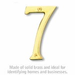 Salsbury 1220B-7 (4 Inch) Solid Brass Number Brass Finish 7