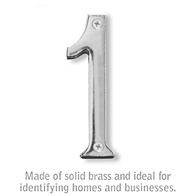 Salsbury 1220C-1 (4 Inch) Solid Brass Number Chrome Finish 1