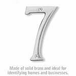 Salsbury 1220C-7 (4 Inch) Solid Brass Number Chrome Finish 7