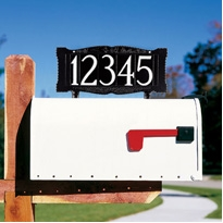 "Standard 4"" Number Mailbox Sign - Mailbox Mount - One Line"