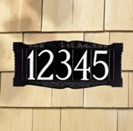 "Standard 4"" Number Wall Sign - Wall Mount - One Line"