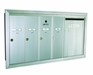 4 Single Compartment and 1 Double-Wide with Optional Mail Slot Vertical Mailboxes