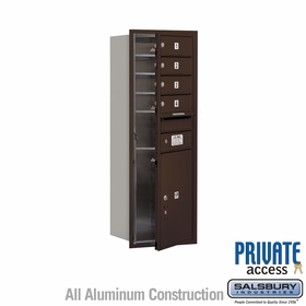 Salsbury 3711S-04ZFP 4C Mailboxes 4 Tenant Doors Front Loading