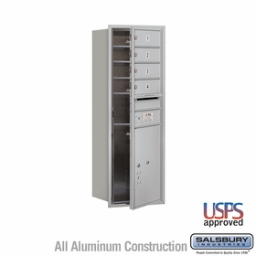 Salsbury 3711S-04AFU 4C Mailboxes 4 Tenant Doors Front Loading