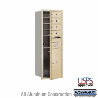 Salsbury 3711S-04SFU 4C Mailboxes 4 Tenant Doors Front Loading